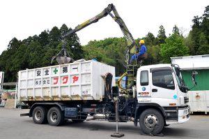 グラップル付アームロールコンテナ車(産業廃棄物運搬)
